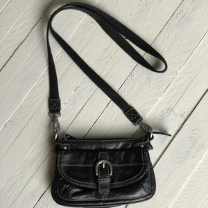 FOSSIL small crossbody black purse